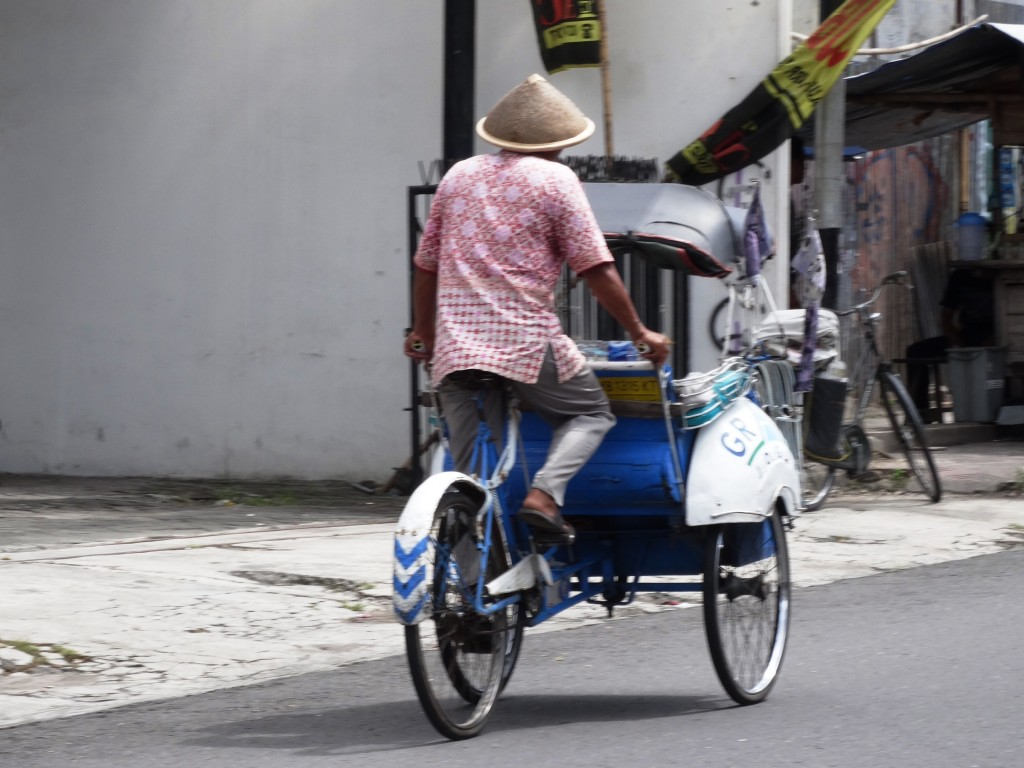 foto man fiets