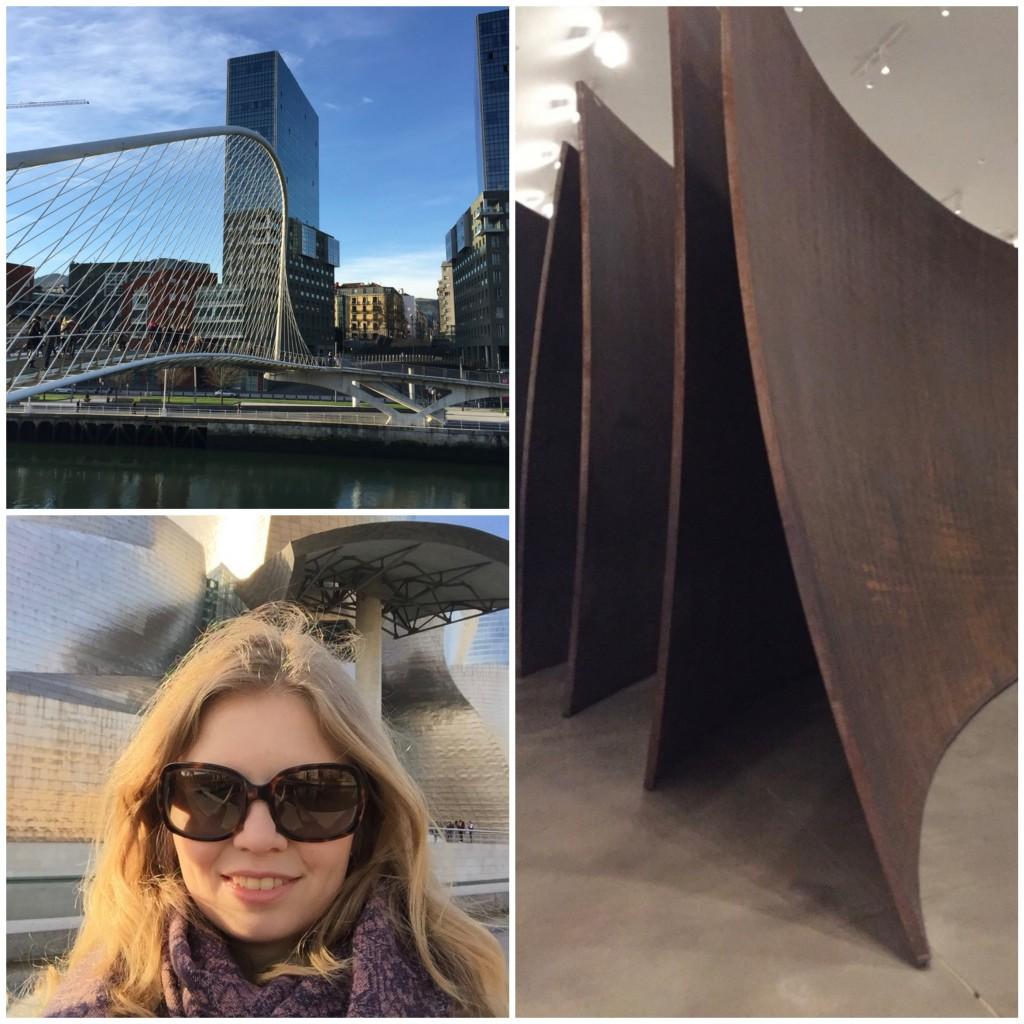 Bilbao Guggenheim en brug calatrava