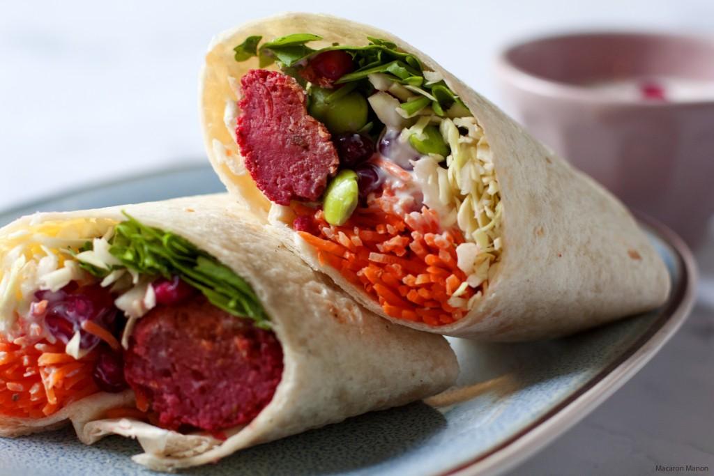 regenboogwraps rode biet falafel2