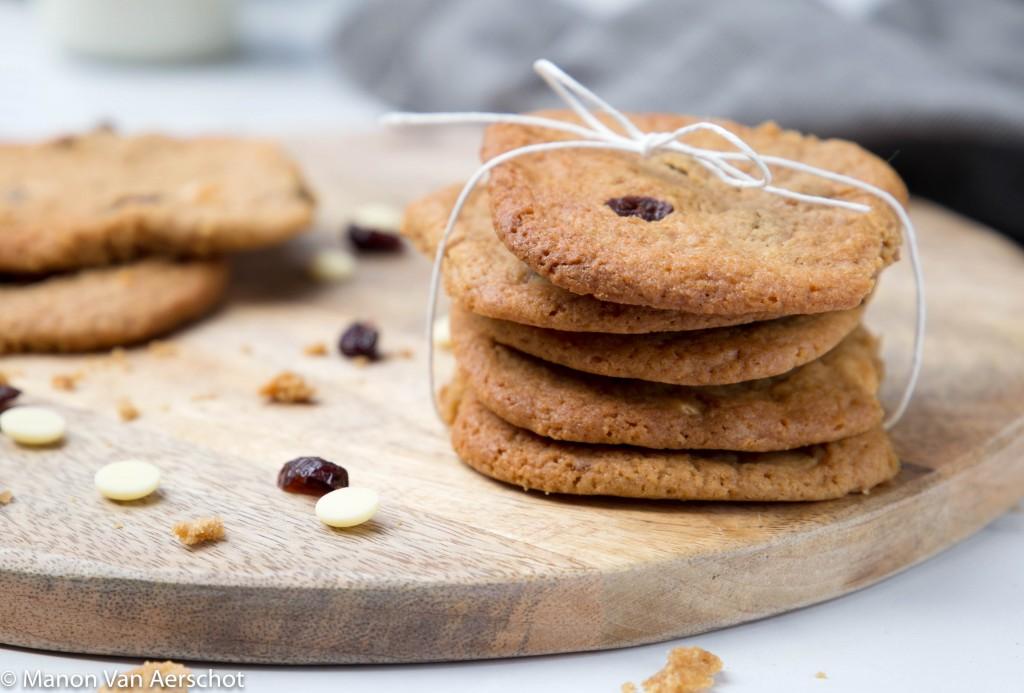 koekjes witte chocolade cranberries 1